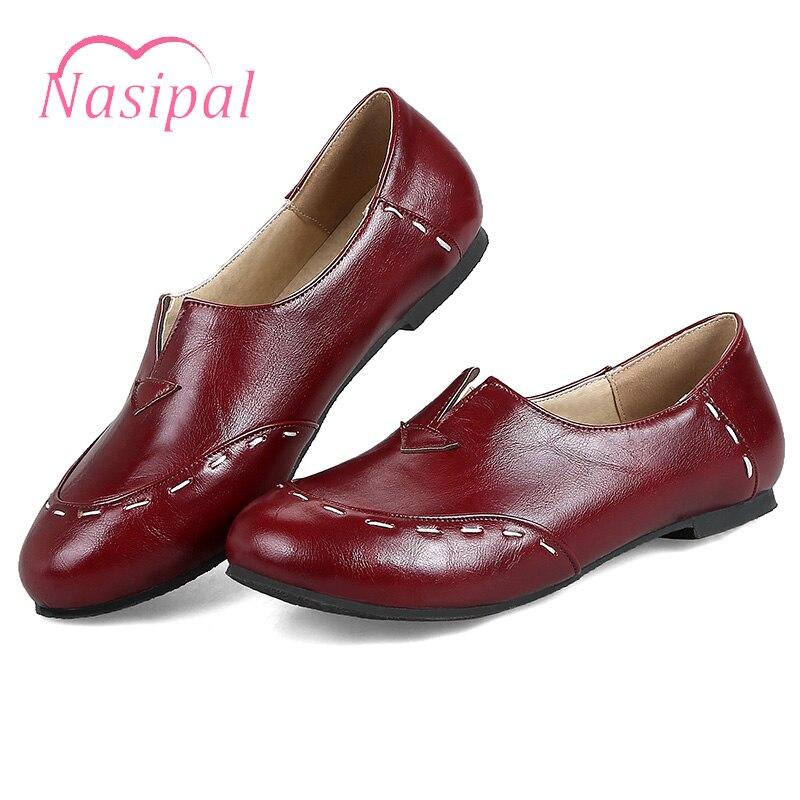 De Profonde Peu Femmes Talons Dames Taille Conduite Chaussures Rouge Automne Footwears 43 Confortable Été Blanc Nasipal vin Plat C370 Femme Printemps x1CO07w