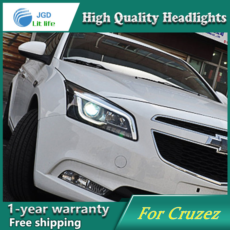 Car Styling Head Lamp for Chevrolet Cruze Headlights Cruze LED Headlight Revo LED DRL H7 D2H Hid Option Angel Eye Bi Xenon Beam hireno headlamp for mercedes benz w163 ml320 ml280 ml350 ml430 headlight assembly led drl angel lens double beam hid xenon 2pcs