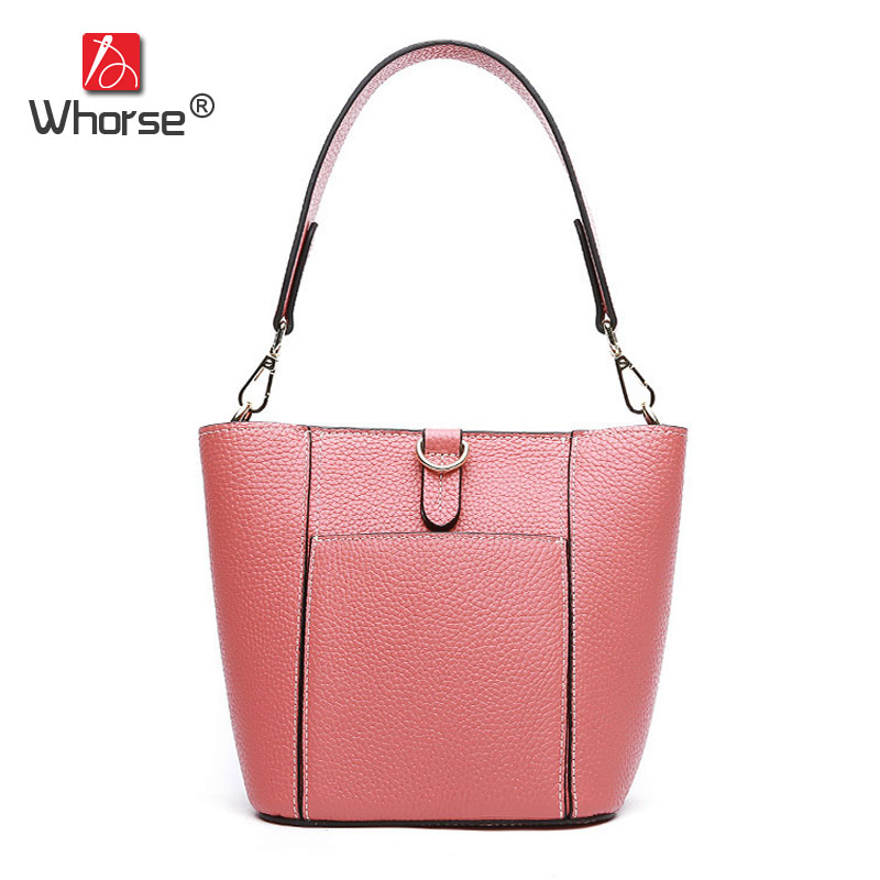 Fashion Small Ladies Casual Tote Composite Bag Genuine Leather Womens Cowhide Handbag Shoulder Messenger Bags For Women W09550