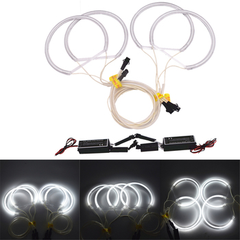 4pcs/Lot Car Angel Eagle Eyes Lights White Headlamp for BMW E36 3 E38 7 E39 5 E46 3 Series 131mm CCFL Flexible Tube Headlight image