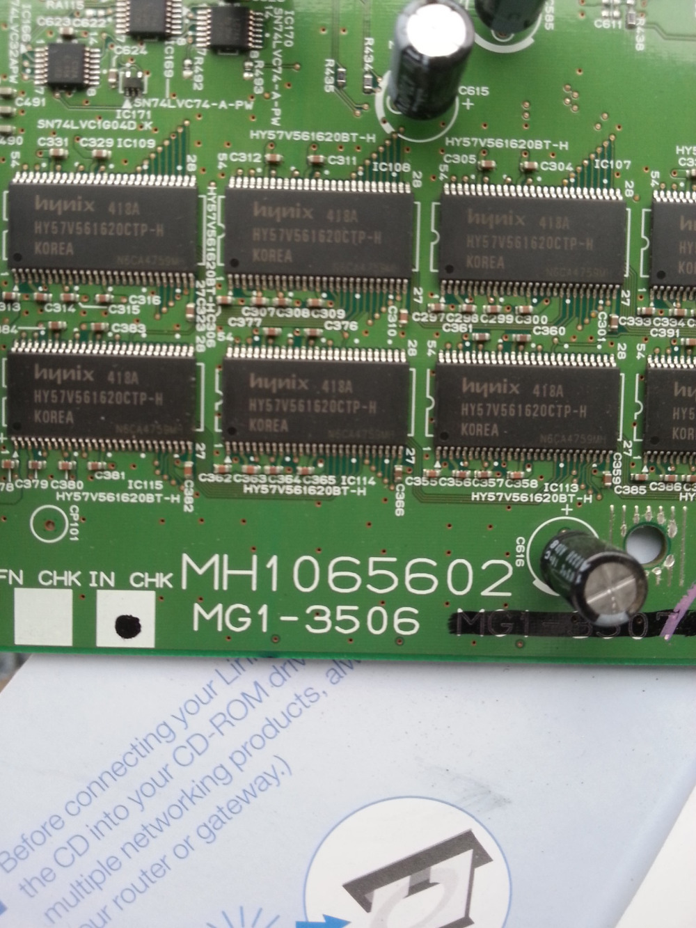 MAINBOARD FOR CANON SCANNER 9080 MG1-3506 MH1065602