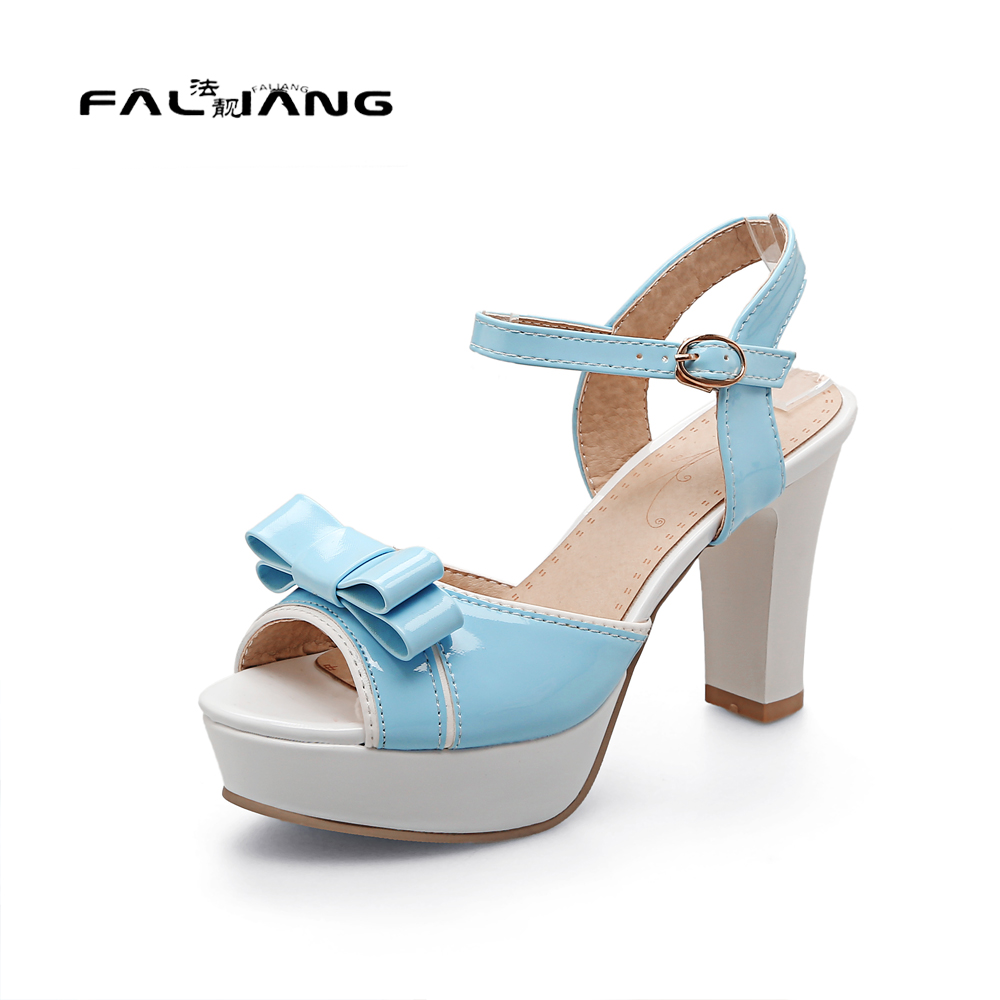 Big Size 11 12 Sweet Butterfly-knot Casual Square heel Women's Shoes Extreme High Heels Sandals Woman For Women Platform Shoes new flock high big size 11 12 women shoes wedges pointed toe woman ladies butterfly knot casual spring autumn sweet single shoes