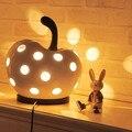 A través De-tallada de Lámparas de Escritorio, Apple Encantador lámpara de mesa, para Estudio dormitorio Habitación de Los Niños, E27, 33*29*29 CM, Bombilla incluida