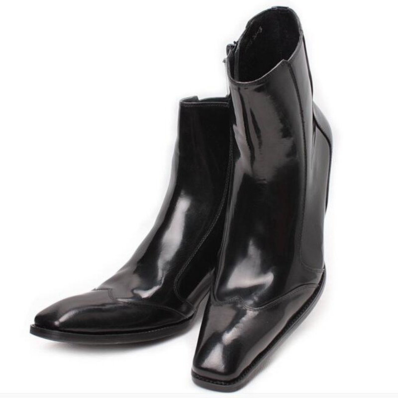 Black Combat Boots For Sale Dress Military Boots Work Shoes Men Side