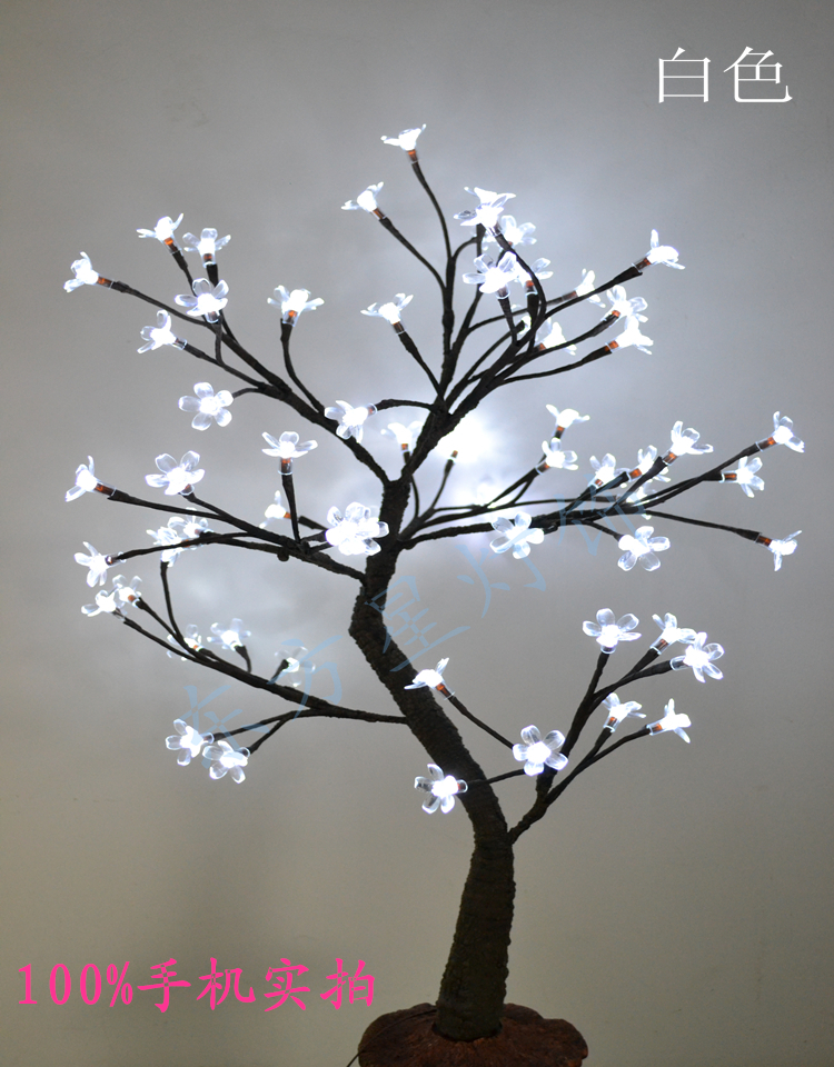 64 Led Cherry Blossom Tree Light In 70cm Height Holiday Standing Wedding Decoration Artificial Dried Flowers