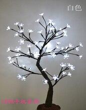 64 LED Cherry Blossom Дерево Света в 70 см Высота, праздник цвести дерево свет, стоящая вишневого дерева свет свадебные украшения