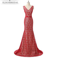 Vintage Red Lace Mother Of The Bride Dresses 2017 Mermaid Wedding Guest Dress Formal Women Evening Gowns Free Shipping