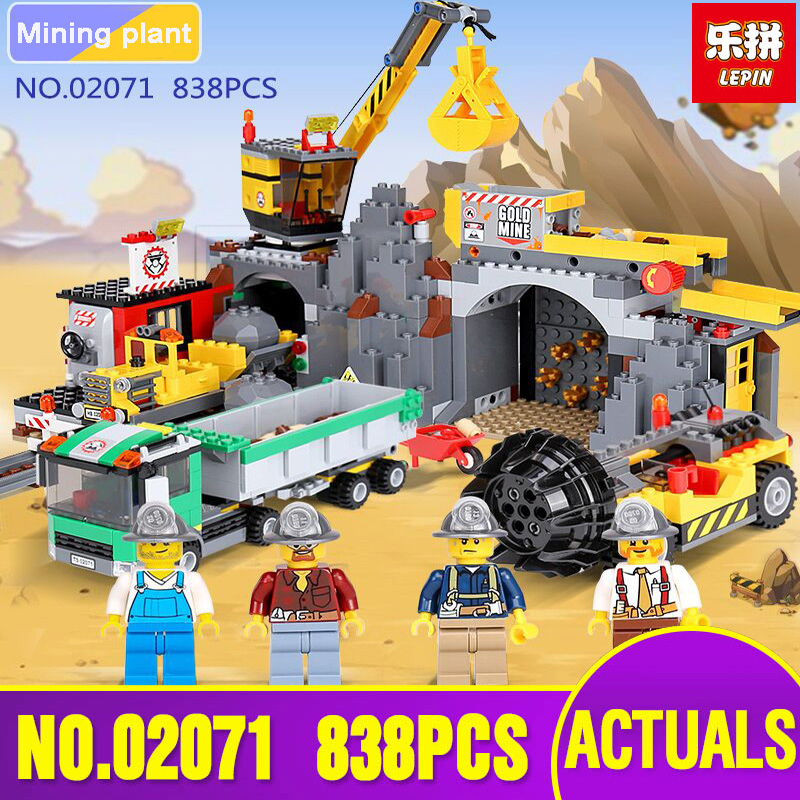Lepin 02071 Genuine City Series The City Mine Set legoing 4204 Building Blocks Bricks Educational Toys As Funny Christmas Gifts