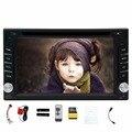 В тире 6.2 дюймовый 2 Din автомобильный dvd-плеер с Gps-навигации 8 ГБ КАРТА Автомобильный радиоприемник Bluetooth Wince 6.0 аудио стерео цифровой сенсорный авто