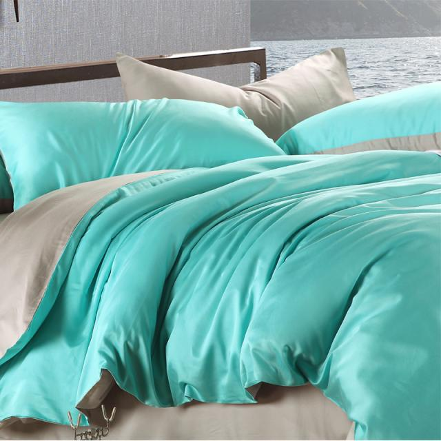 Luxury Bedding Set King Size Blue Green Turquoise Duvet Cover Grey Sheets Sheet Queen Double Bed In A Bag Linen Quilt Bedroom Sets From Home