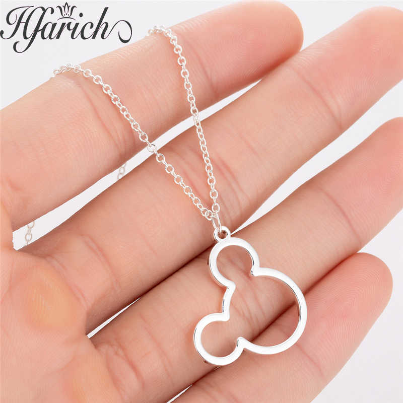 Hfarich Trendy Fashion Charming Mickey Pendant Necklace Hollow Mouse Female Jewelry Women Necklace High Quality Valentine Gifts