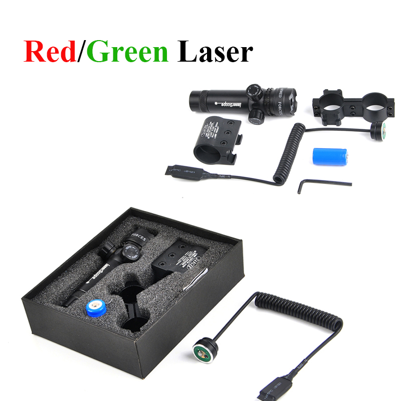 Green Red Dot Laser Sight Tactical Laser Aluminum Rifle Scope Shooting Hunting Airsoft Air Guns Laser Sight  Riflescope Caza