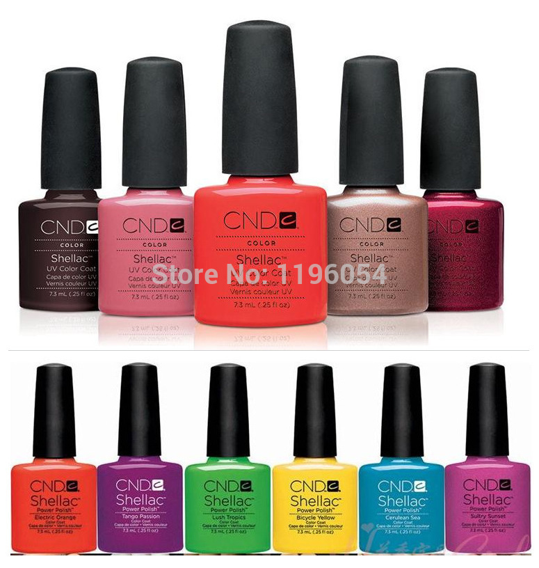 2016 CNDed Shellacs 12 Pcs/lot UV Gel Nail Kit Soak Off LED UV Gel Polish Fashion 79 Color For Nail Gel Design Nail 7.3ml