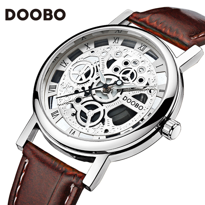 New Brand Fashion Men Sports Watches Men's Quartz Hour Date Clock Man Leather Strap Military Army Waterproof Wrist watch DOOBO new 2016 brand skmei watches men fashion casual quartz watch man waterproof sports military leather strap wrist watches