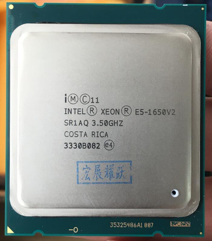 Processeur Intel Xeon E5 1650 V2 E5-1650 V2 CPU LGA 2011 Serveur processeur 100% fonctionne correctement processeur d'ordinateur de bureau E5-1650V2