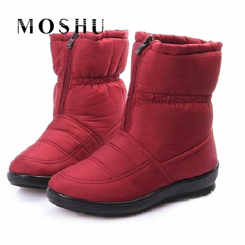 Designer Women Snow Ankle Boots Female Down Waterproof Puff Winter Boots Ladies Zipper Plush Sapato Feminino