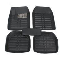 5pcs Black Leather Universal Auto Car Floor Mats Front Rear Liner Weather Set Car Accessories