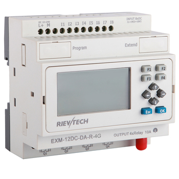 GSM/SMS/GPRS PLC,ideal solution for remote control& monitoring &alarming applications ,intelligent controller EXM-12DC-DA-R-4G