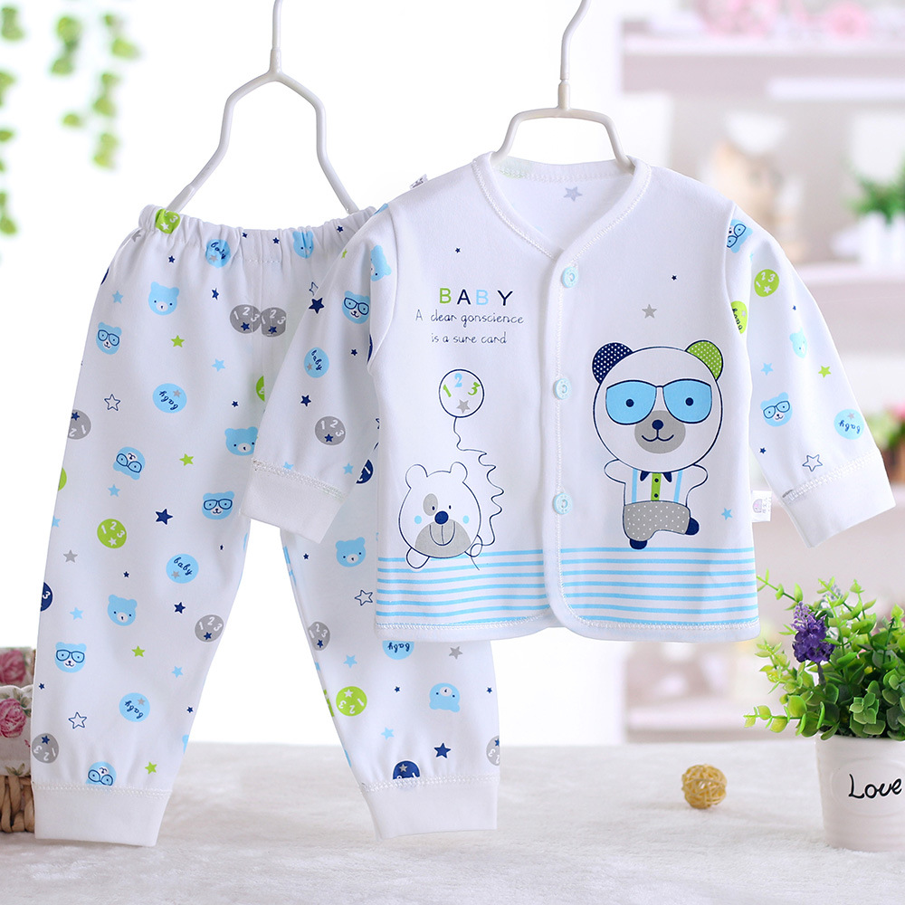 112017 New Style 0-6M Baby Clothing Set Long Sleeve Cartoon Fashion T-shirt+pants2pcs/suit Outfits Newborn Baby Boy Girl Clothes