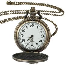 Roman digital quartz necklace pocket watch retro gold bronze steampunk pocket watch chain men's and women's clocks недорого