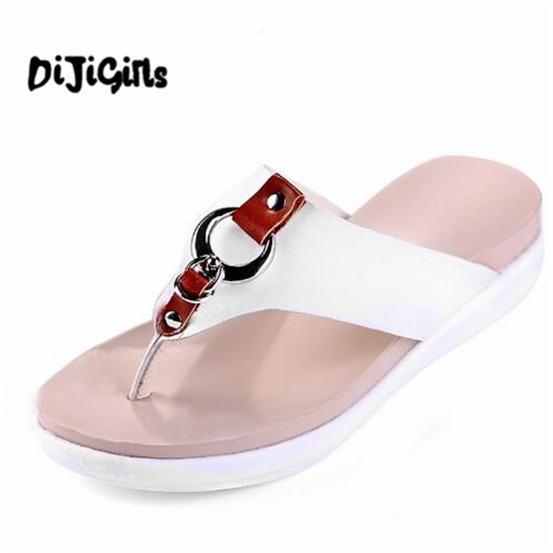 Slippers Platform Summer Flats Solid Flip Flops Beach Shoes Woman Creepers Slip On Women Shoes Size 35-40 phyanic 2017 gladiator sandals gold silver shoes woman summer platform wedges glitters creepers casual women shoes phy3323