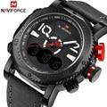 Nuevo top brand naviforce hombres led relojes digitales hombre de cuero militar reloj de pulsera deportivo de cuarzo reloj de los hombres relogio masculino