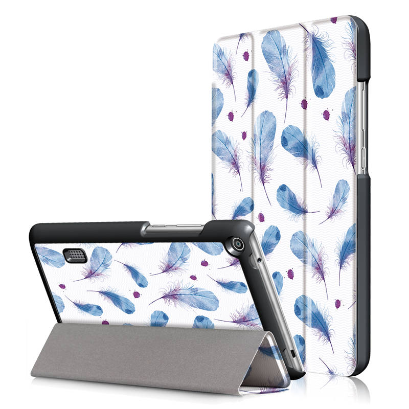 Van Gogh Painted Pu Leather Case Stand Cover For Huawei Mediapad T3 7.0 WIFI 7 Inch Tablet Book Covers