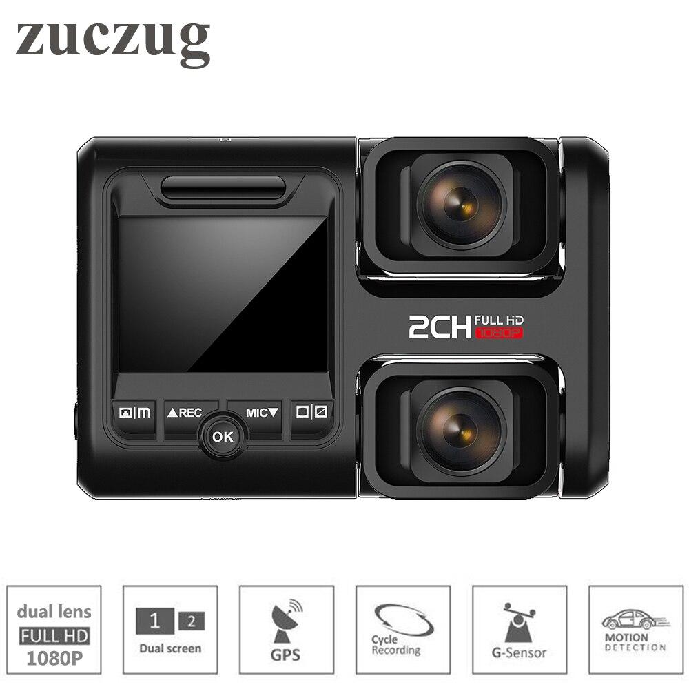 Zuczug Wifi voiture dvr enregistreur vidéo intégré GPS double caméras full hd 1080 P pour siège/avant double 170 degrés Novatek 96663 dash Cam