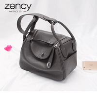 Zency New Doctor Style 100% Genuine Leather Women's Handbags Classic Lady Shoulder Purse Crossbody Messenger Bag Tote Satchel