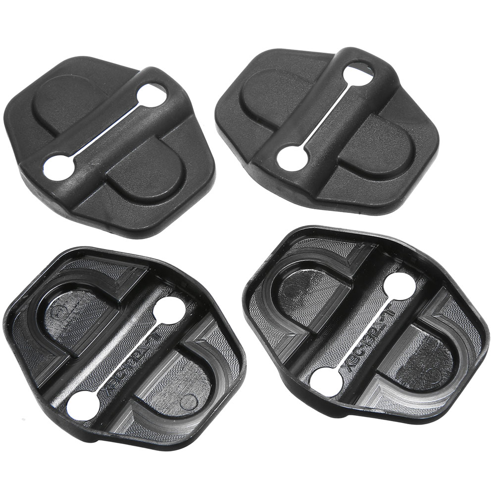 4pcs Black Door Lock Decoration Trim Cover  Upgrade From Standard Cover High Performance For Jeep Wrangler JL 2018 2019