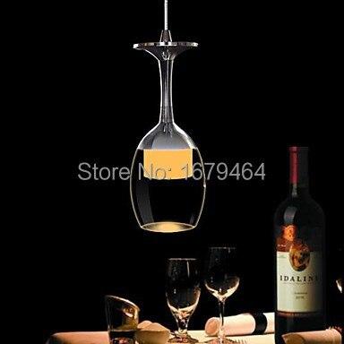 3 Watt LED Tasse Kronleuchter Licht Weinglas Pendelleuchte für ...