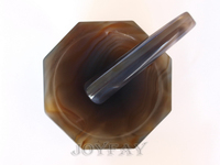 Natural Agate Mortar And Pestle ID 100 Mm 4 OD 120 Mm Lab Grinding