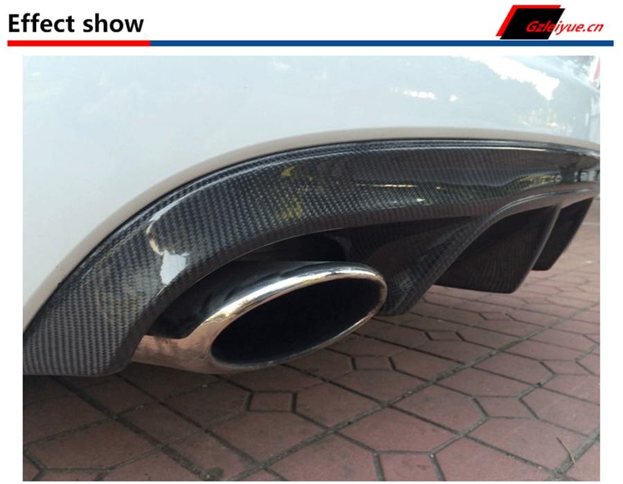 For Jaguar XF 2012.2013.2014.2015 Carbon Fiber Rear Lip Spoiler Bumper Diffuser High Quality Car Accessories