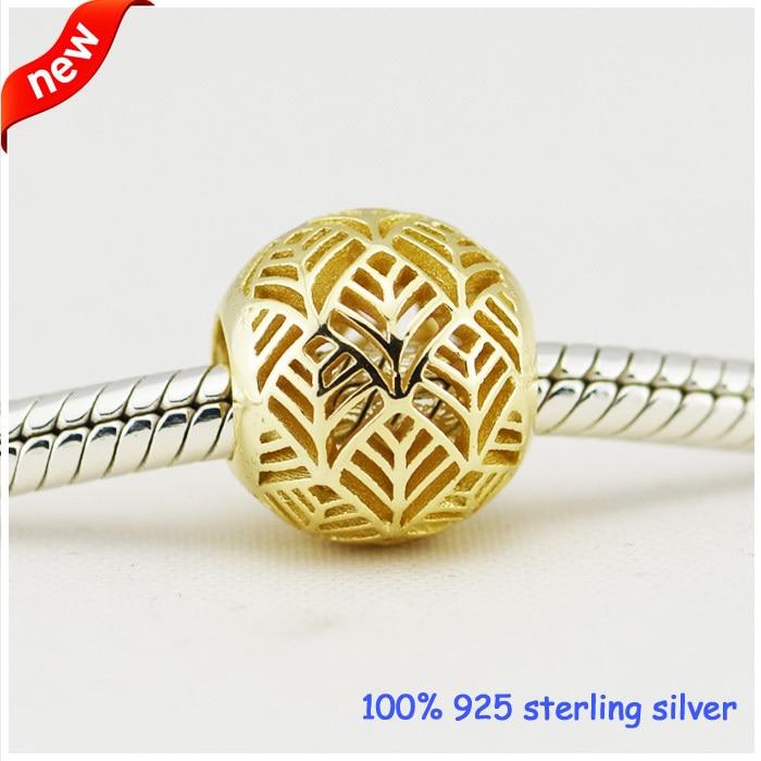 все цены на Fits Pandora Bracelets Tropicana Silver Beads New Original 100% 925 Sterling Silver Charms DIY Wholesale онлайн