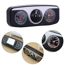 Auto 3 in1 Guide Ball Boat Vehicles Navigation Compass Thermometer Hygrometer Decoration Ornaments Car Interior Accessories