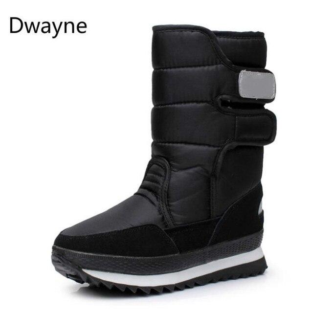 Dwayne รองเท้าผู้หญิงฤดูหนาวหญิงขนสัตว์กันน้ำด้านบน plus ขนาดแฟชั่นลื่นจัดส่งฟรีคลาสสิก snowboots