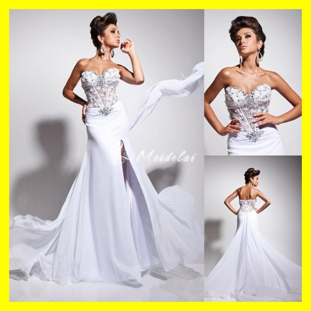 070e5b5e50ead Junior Prom Dresses Under Ghetto Online Expensive Clearance A-Line  Floor-Length Court Train Built-In Bra Appliques Sw 2015 Cheap
