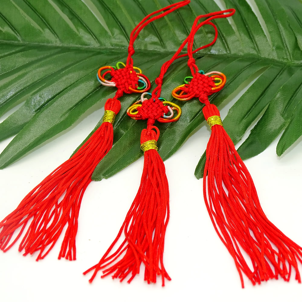 Small Chinese knot tassel colorful small China