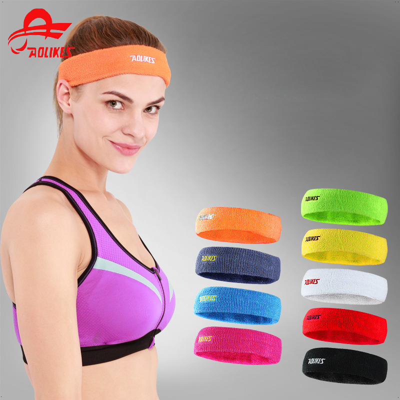 High Quality Cotton Sweat Headband For Men Sweatband Women Yoga Hair Bands Head Sweat Bands Sports Safety