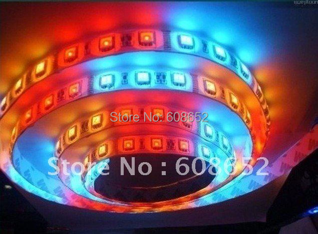 High / bright RGB SMD 5050  waterproof 30LED / M LED+IC / Flexible Strip LED/reel+ IR+Remote Controller LED Lighting>LED Strip