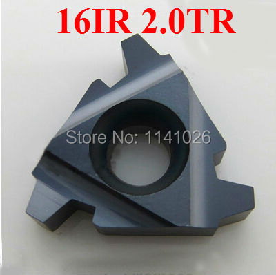 Free Shipping 16IR 2.0TR   Internal Indexable Trapezoidal Threading Lathe Inserts For SNR Threaded Lathe Holder