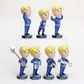 7pcs/lot 15cm Fallout 4 Vault figure Bobbleheads PVC Action Figure Bobble heads For Kid toys