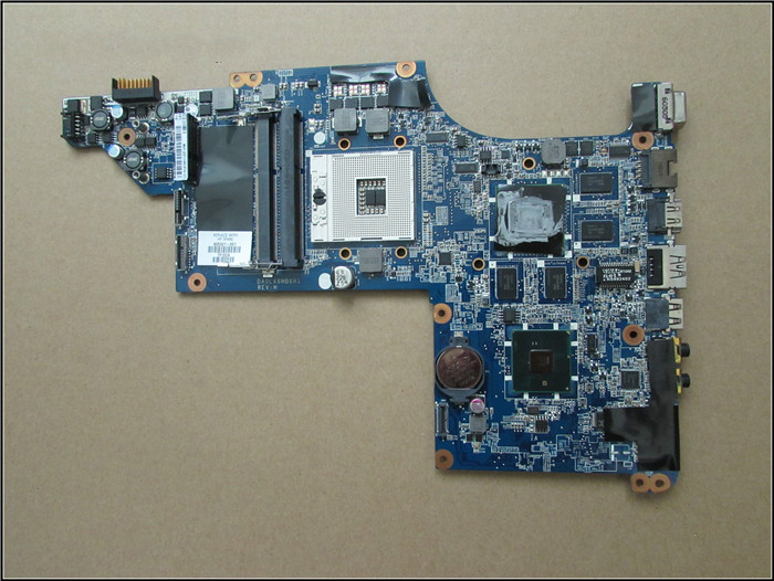 Free shipping !100% tested 605321-001 board for HP  dv7 dv7-4000 motherboard with for Intel hm55 chipset 5650/1G free shipping 595183 001 board for hp cq62 cq42 g62 g42 laptop motherboard with for intel hm55 chipset