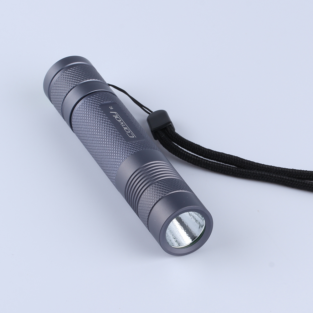 Convoy S2 Cree XM-L2 U2-1A EDC LED Flashlight Torch Light for Bicycle Tactical Light by 18650 Beterry- Gray convoy s2 cree xm l2 u2 1a edc led flashlight torch light for bicycle tactical light by 18650 beterry gray