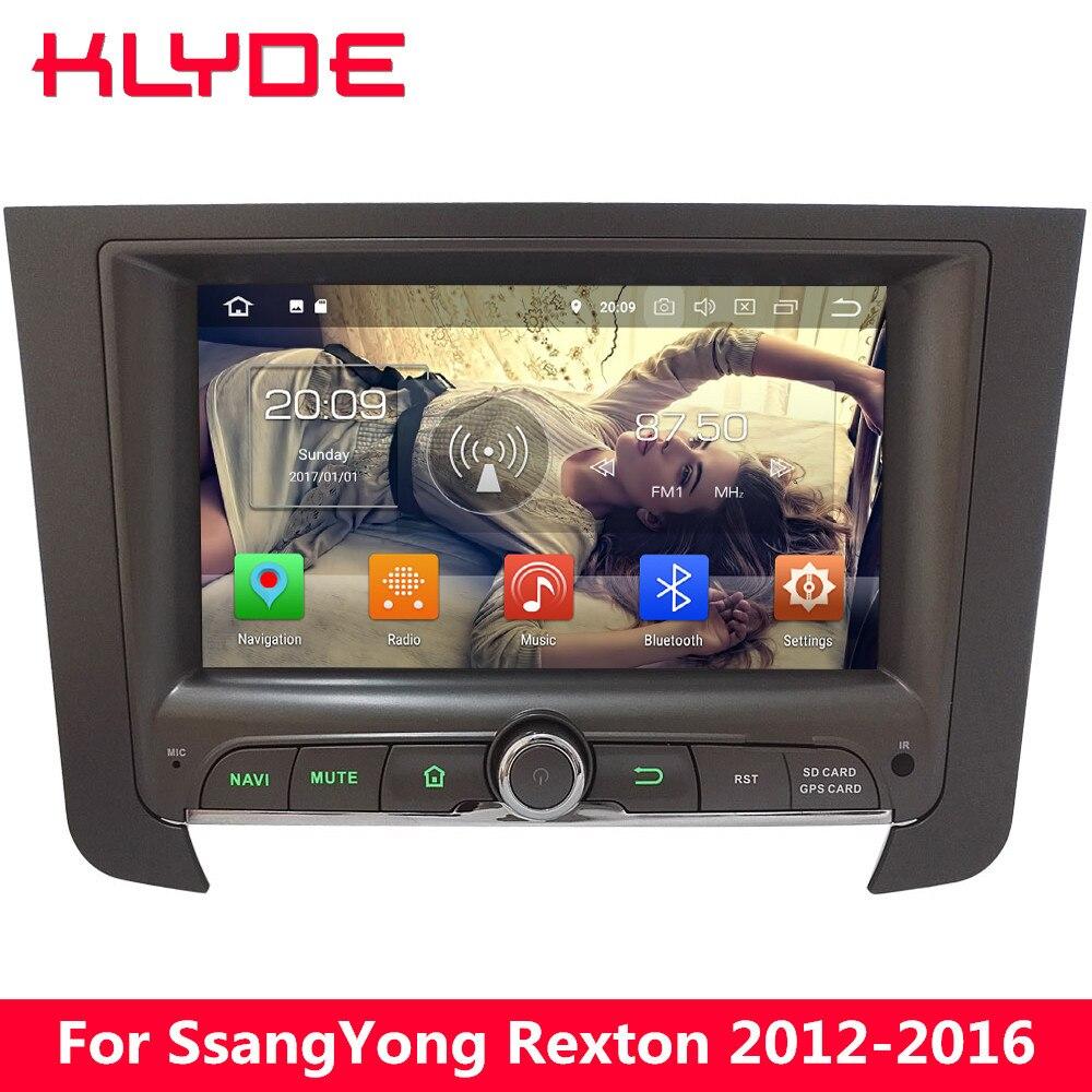 KLYDE 4G Octa Core Android 8.0 7.1 4 GB RAM 32 GB ROM BT voiture lecteur DVD Radio stéréo GPS Navigation pour SsangYong Rexton 2012-2016
