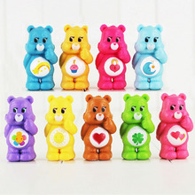 9Pcs/Lot 4-5cm cute Japanese Anime Original kawaii Action Figure Care Bears Best Kids Toys For Boys And Girls Free Shipping