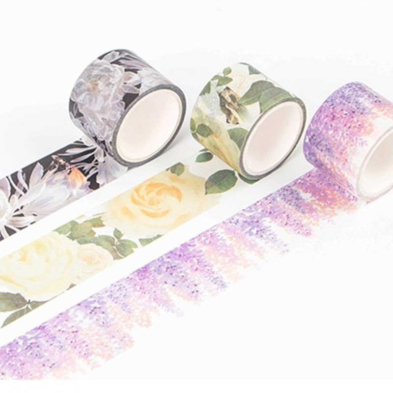 22 Poetic Ink Painting Cute Kawaii Flower Decorative Adhesive Tape Washi Tape DIY Scrapbooking Masking Tape School Office Supply
