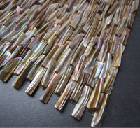Bán buôn lưới gắn kết mẹ của ngọc trai H Shape 3D brick trang trí gạch khảm vỏ trong vintage Miễn Phí Vận Chuyển