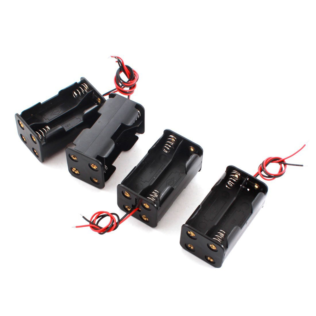 4pcs DIY Double Sides 4 x AA Battery Case Holder Box Container dhl ems 10 50pcs 3 x aa 3xaa 4 5v dc battery holder pp3 case box a1