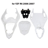 Plastic Upper Lower Rear Tail Section Cowl Fairing For YAMAHA YZF R6 2006 2007 2008 2009 2016
